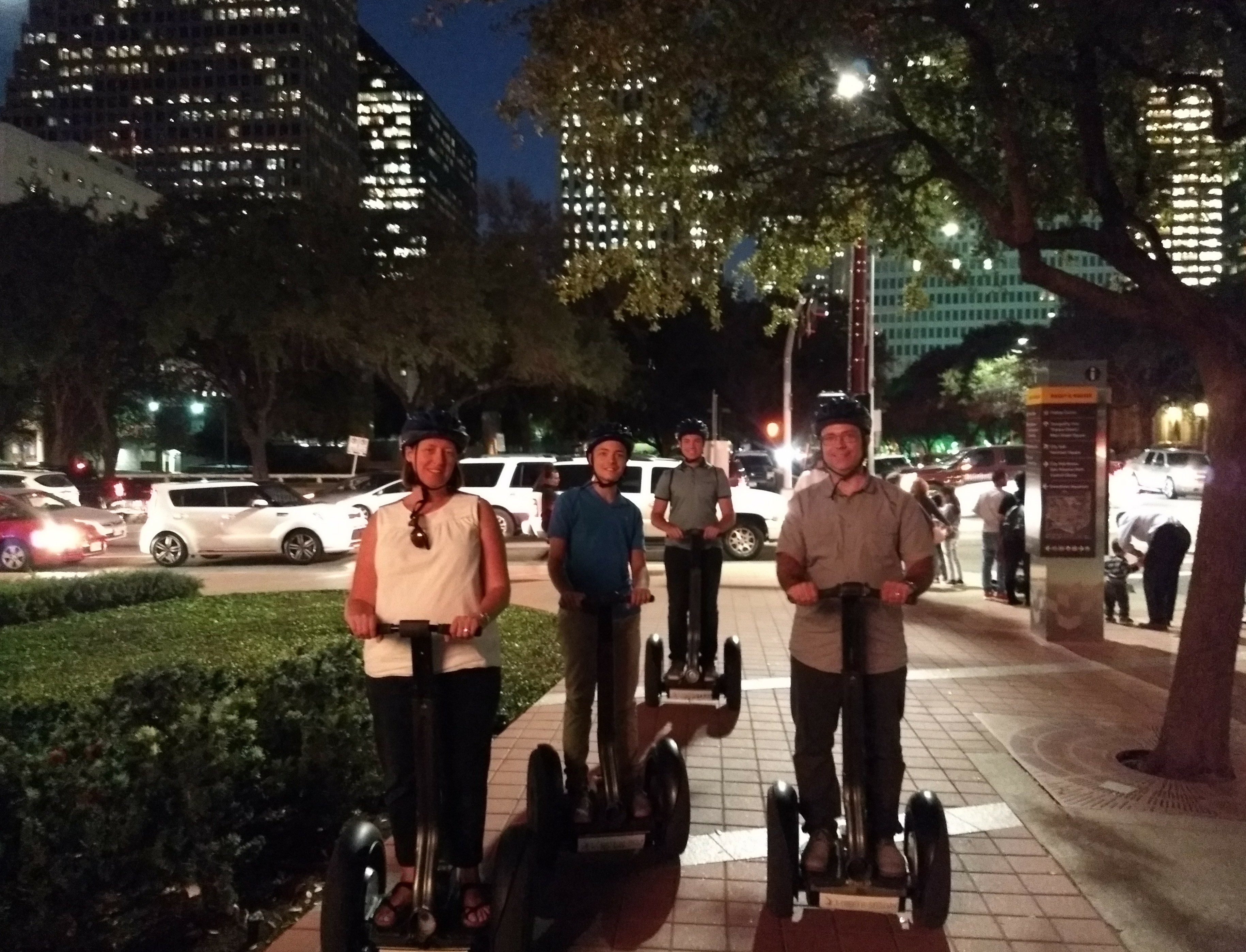 As the stars look down, the best of all our tours....Segway Tours Of Houston's Bayou TWILIGHT TOUR
